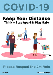 Personal Hygiene Safety Poster. Coronavirus  - Keep Your Distance 3.