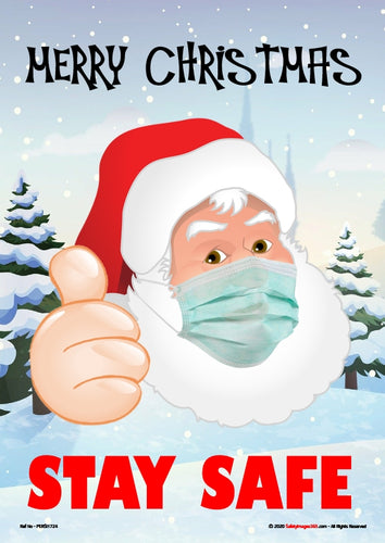 Personal Hygiene Safety Poster. Coronavirus  - Merry Christmas - Stay Safe.