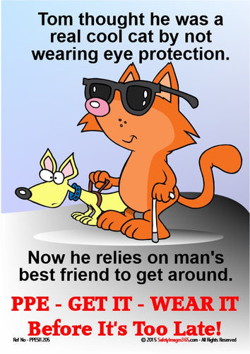 Cartoon cat wearing sunglasses with pet dog.