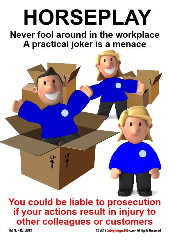 Image of people fooling around with cardboard boxes.