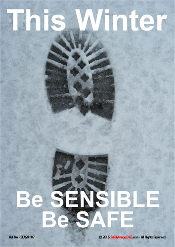 Image of a boot print in the snow.