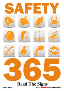 Examples of safety symbols and the caption - safety 365 - read the signs.