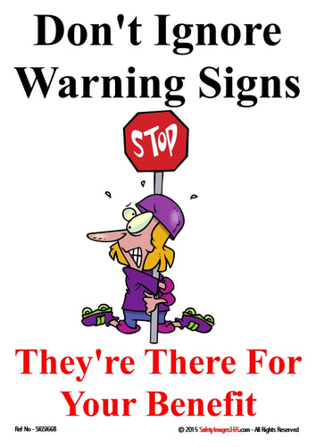 Cartoon image of a person wrapped around a stop sign.