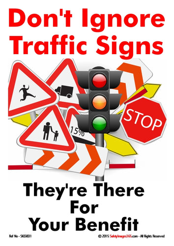 Picture of types of traffic signs.