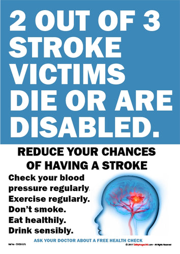List of ways to reduce the risk of having a stroke with an image of the human brain.