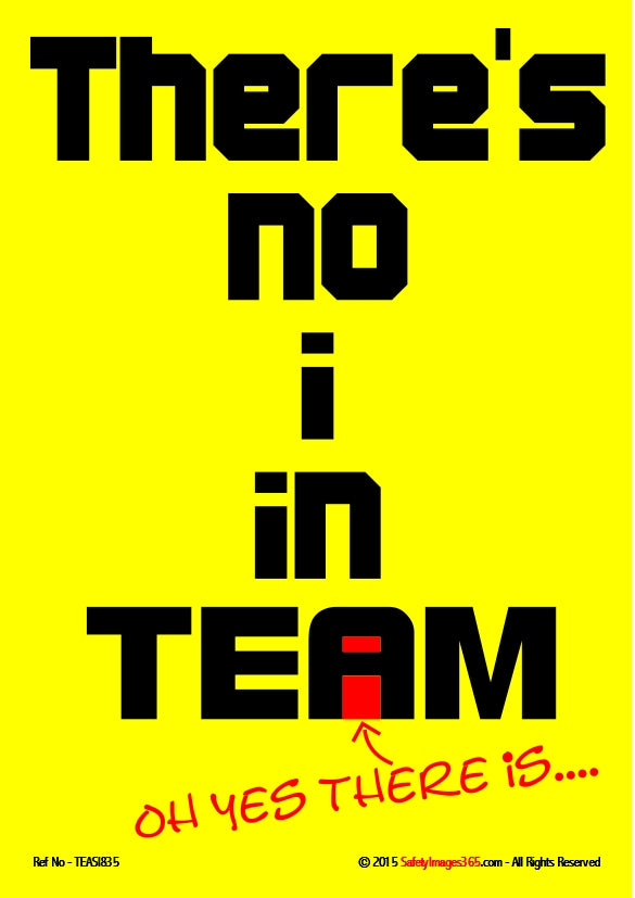 Text only - there's no I in team.