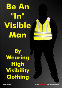 Silhouette of a person wearing a high visibility jacket.