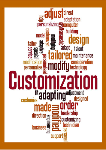 Image showing Customisation and alternative wording