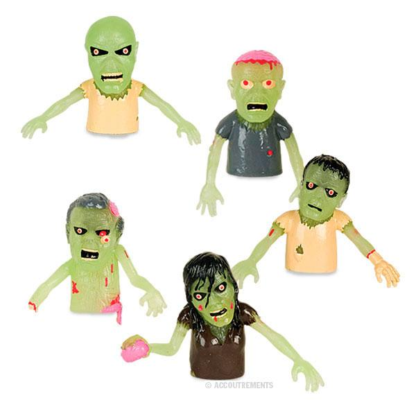 Set of 4 Glow Finger Zombies