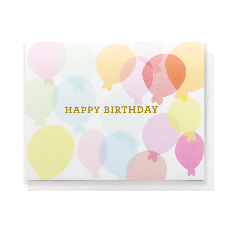 Happy Birthday Balloons, Greeting Card