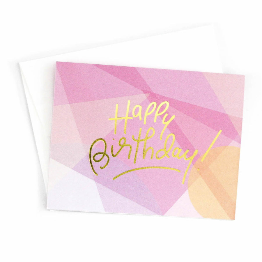 Happy Birthday (Pink), Greeting Card