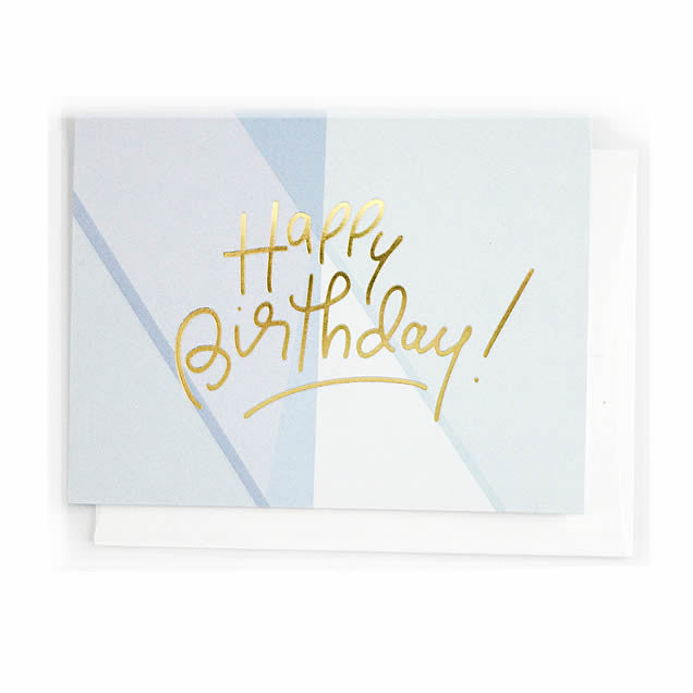 Happy Birthday (Blue), Greeting Card