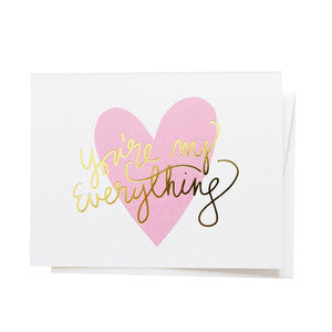 You're My Everything, Greeting Card