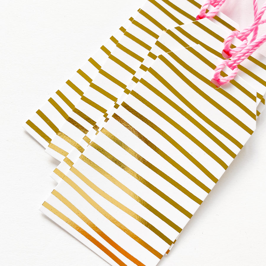 Gold Stripe, Gift Tags