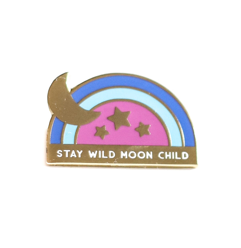 Stay Wild Moon Child, Enamel Pin