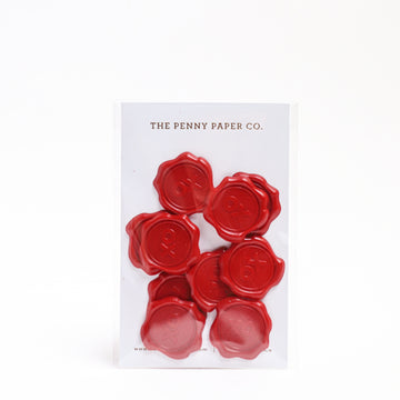 XO Wax Seal Stickers (10pc)