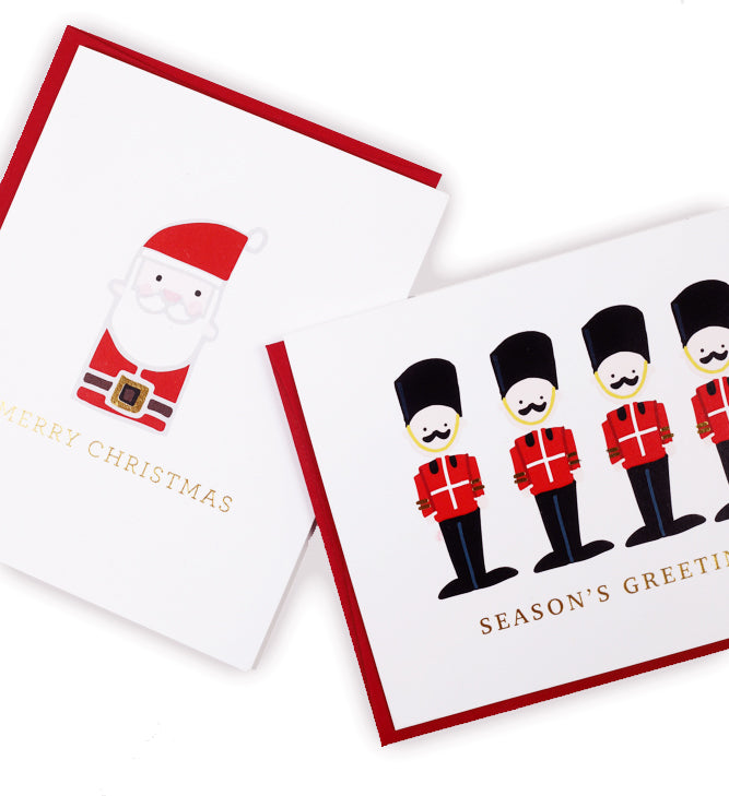 Santa, Merry Christmas Greeting Card