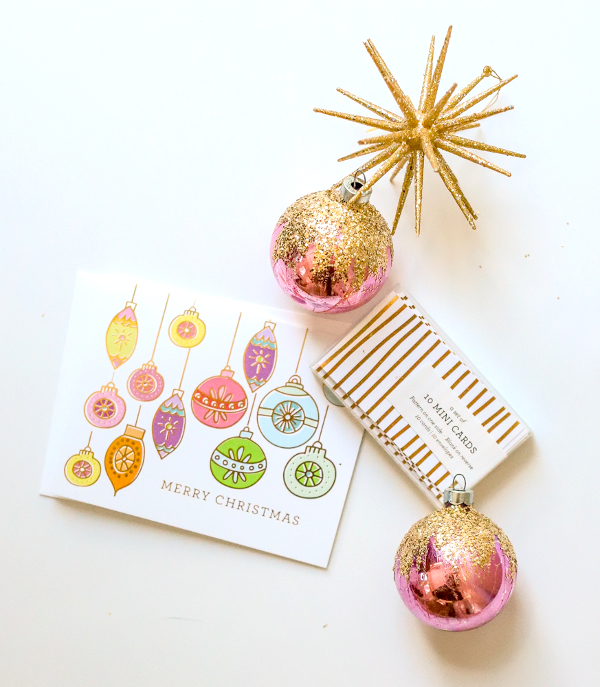 Retro Ornaments, Holiday Greeting Card – The Penny Paper Co.