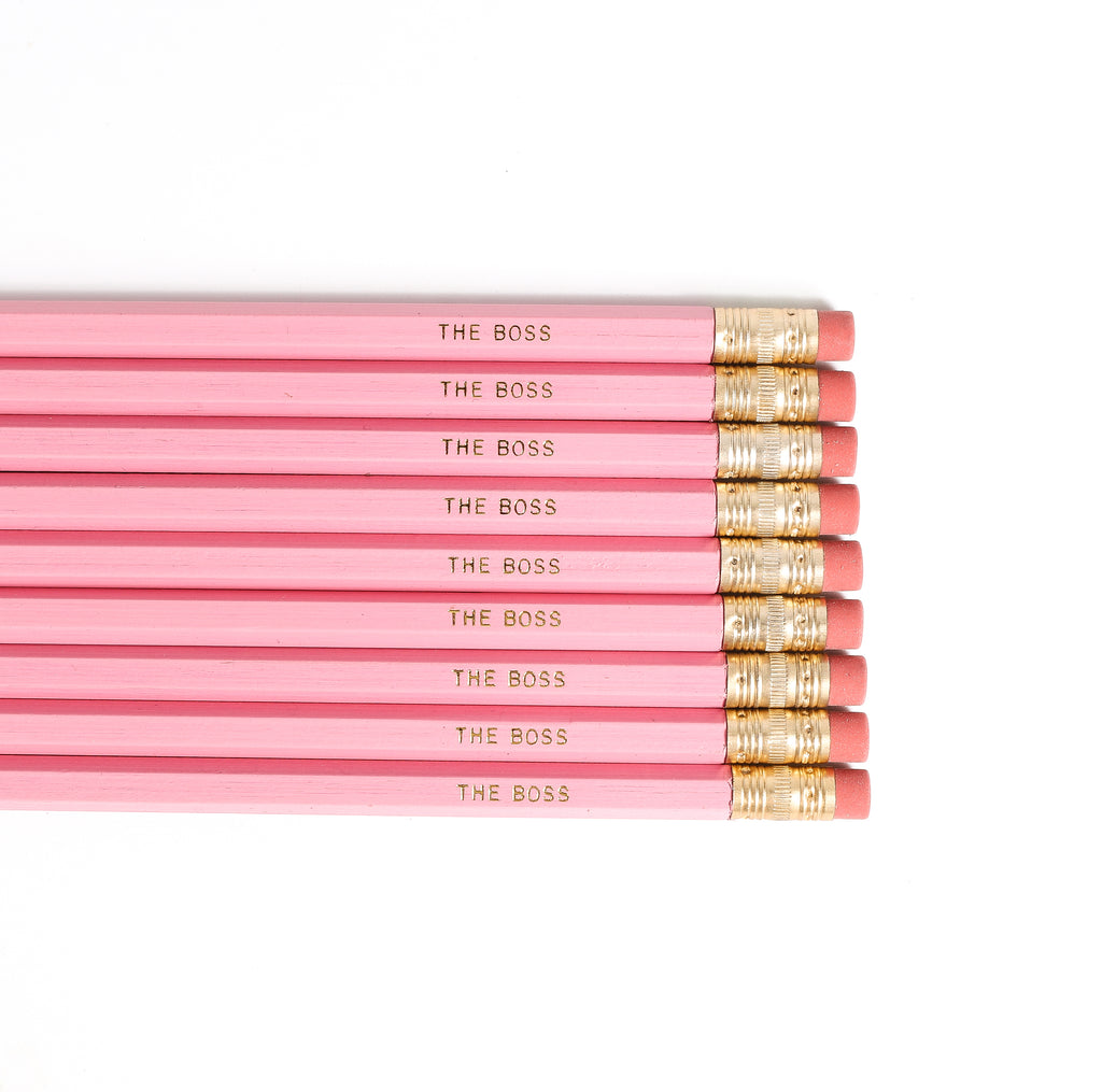 The Boss, Pencil Set in Pink