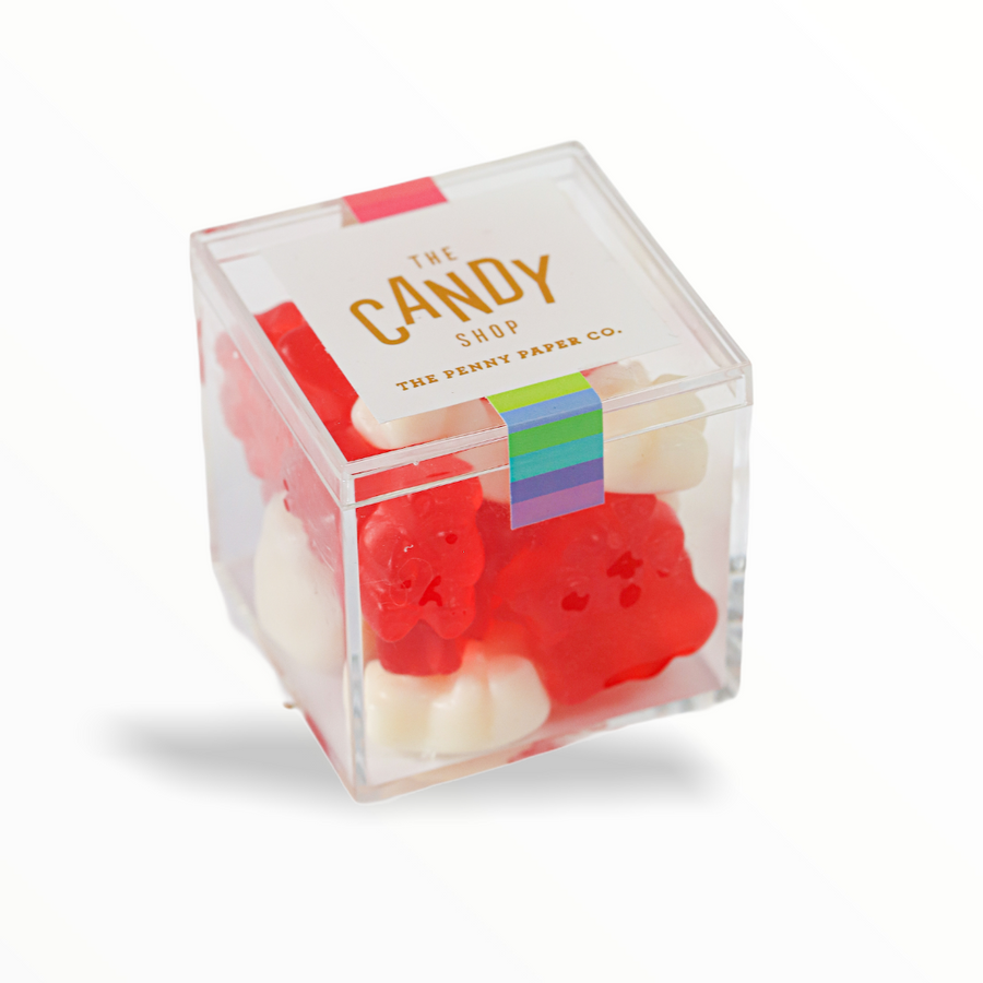 Penny Paper Co. Candy Box - Red and White Gummy Bears