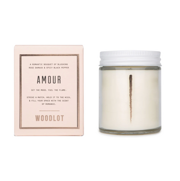 Amour, Woodlot Coconut Wax Candle