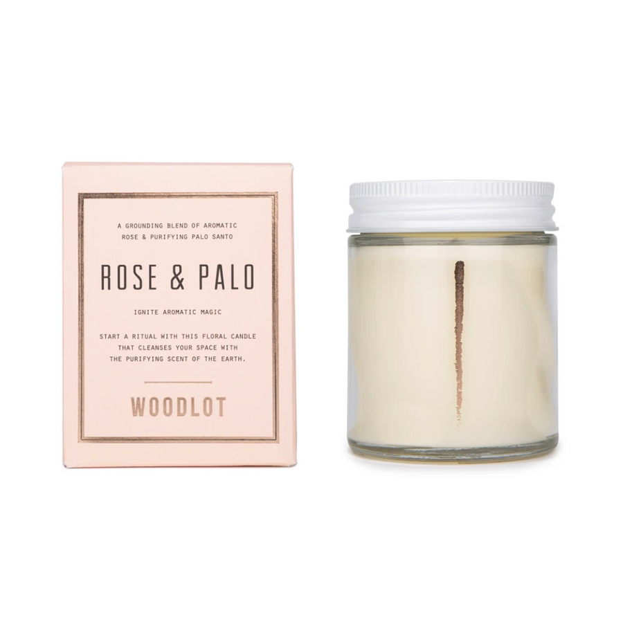 Rose and Palo Santo, Woodlot Coconut Wax Candle