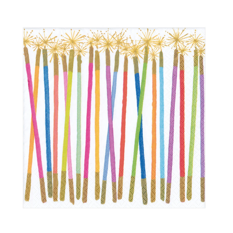 Party Candles Paper Luncheon Napkins - 20 Per Package