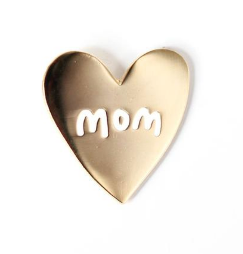Gold Mom Heart, Single Pin