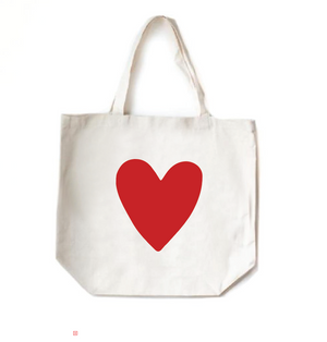 NEW! Red Heart Tote Bag