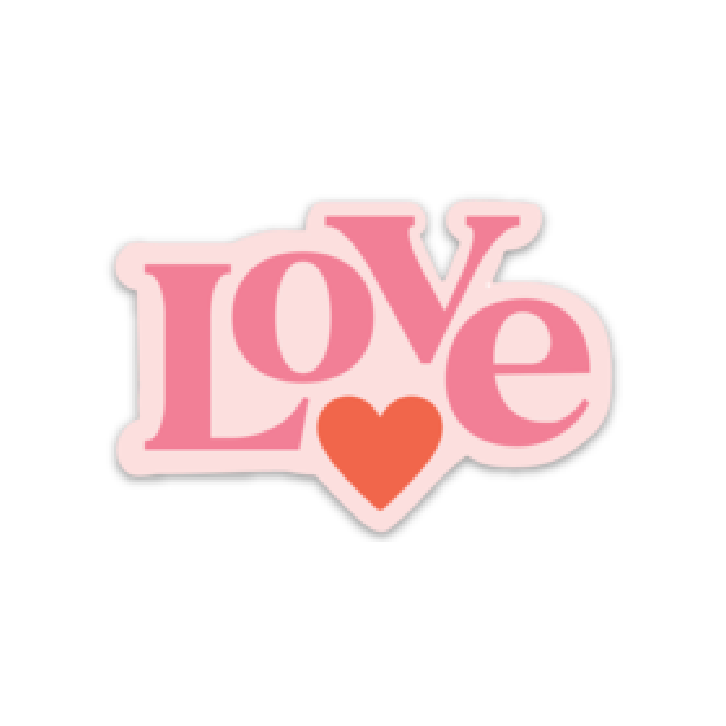 LOVE, Vinyl Sticker