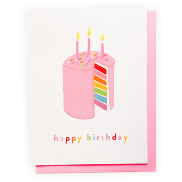 Happy Birthday Cake, Greeting Card