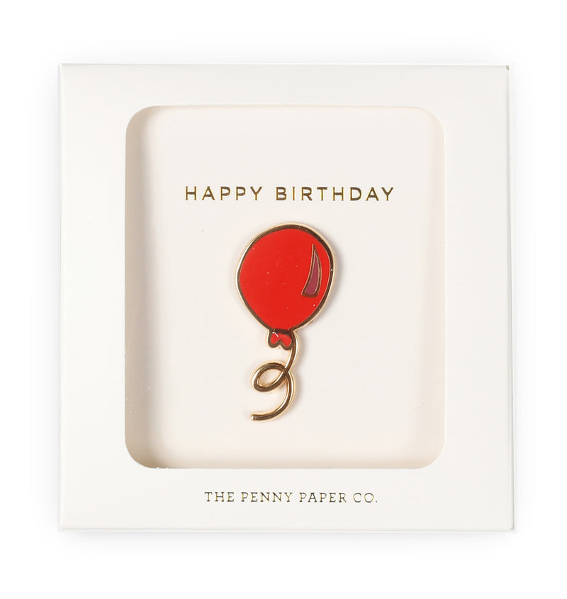 Happy Birthday Balloon, Enamel Pin Gift Set