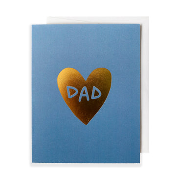 Dad's Heart of Gold, Greeting Card