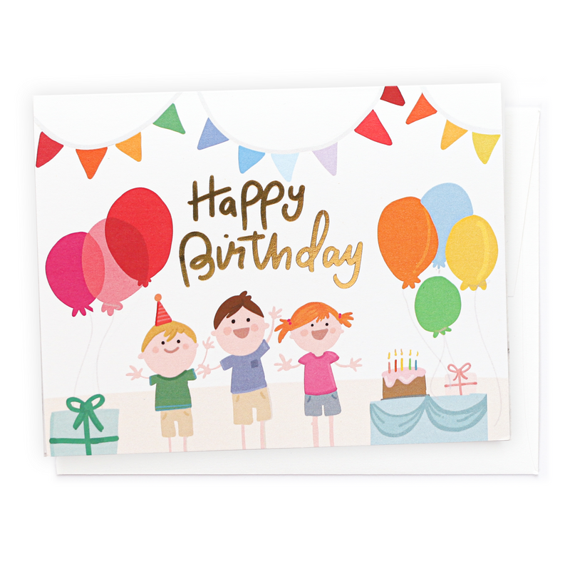 Kids Birthday Party, Greeting Card