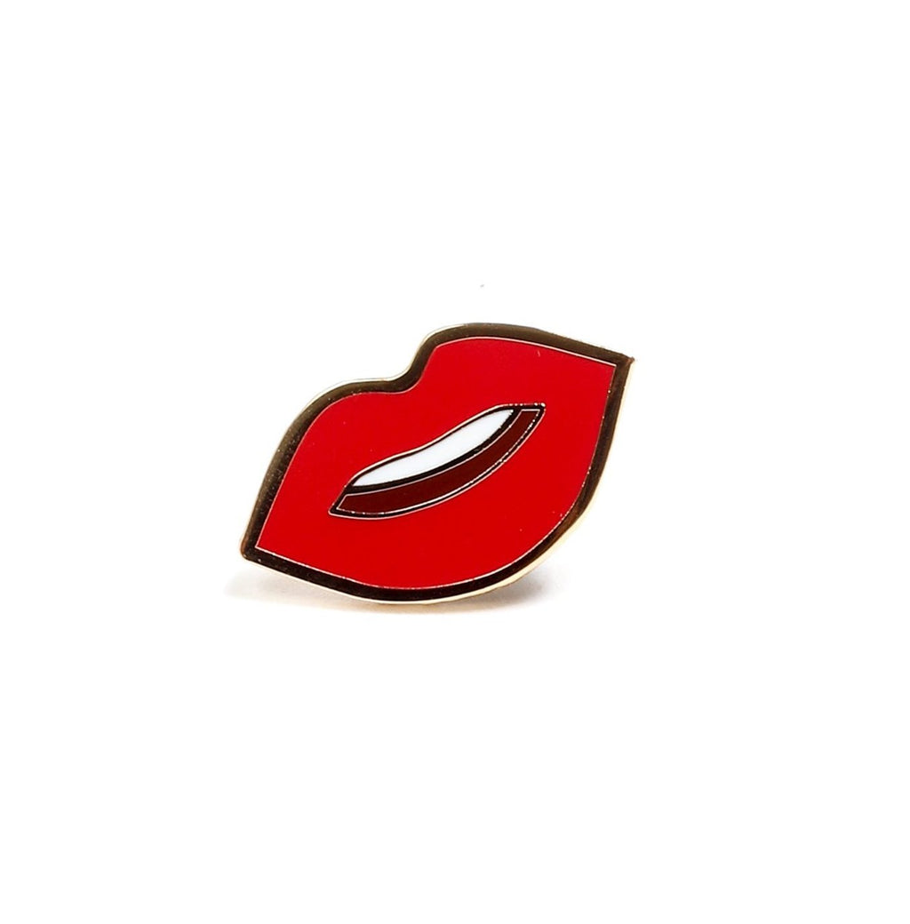 Kiss Kiss, Lips Enamel Pin