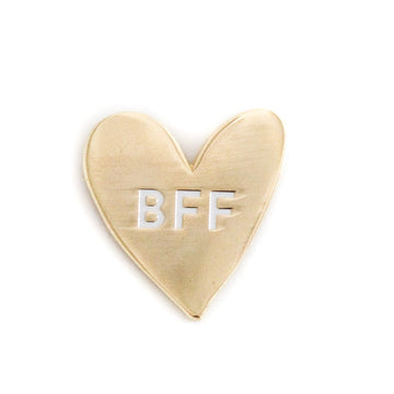 Limited Edition No. 2 BFF, Gold Enamel Pin