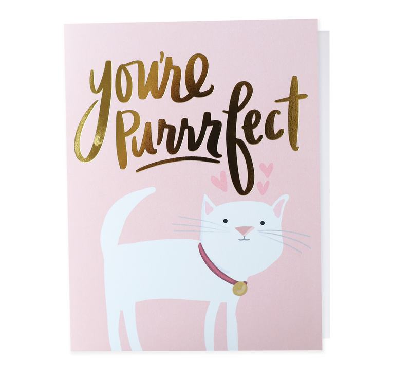 NEW! You're Purrrrfect, Greeting Card