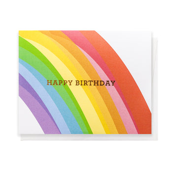 Rainbow Birthday, Greeting Card