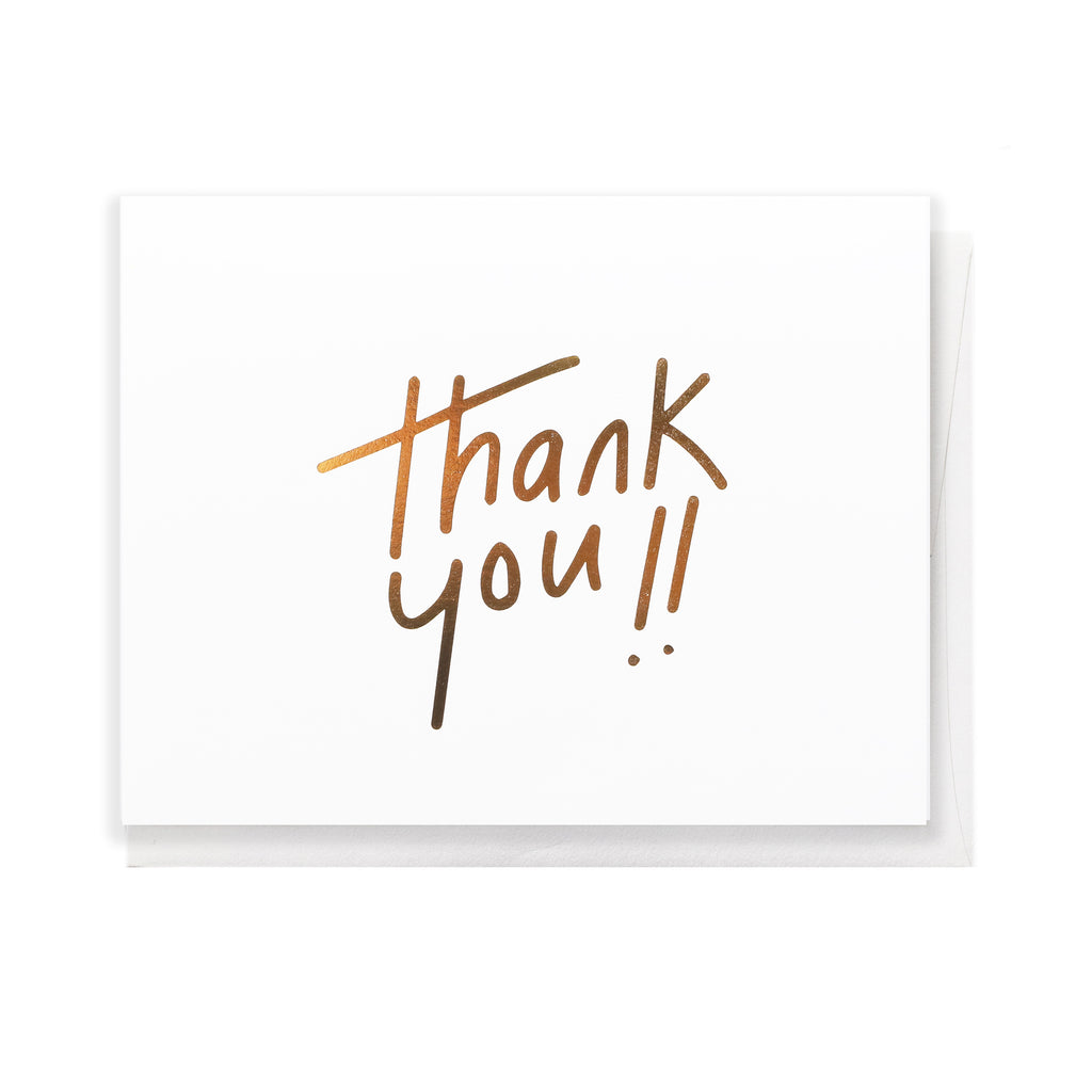 Thank you greeting card the penny paper co thank you greeting card kristyandbryce Images