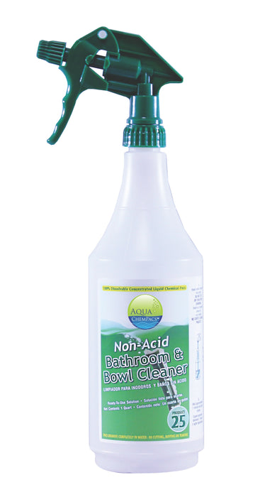 Non-Acid Bathroom & Bowl Cleaner 12 Labeled Bottles (for quarts)
