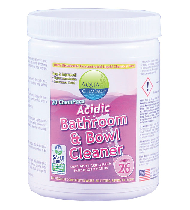 Acidic Bathroom & Bowl Cleaner Jars (for quarts)