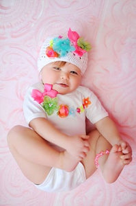 Short sleeve onesie and hat set