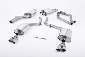 Milltek Exhaust Audi S5 3.0 Supercharged V6 B8 Cat-back EC-Approved. Quad Polished Tips.
