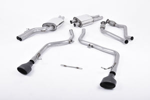 Milltek Exhaust Audi S5 3.0 TFSI B8 Coupe & Cabriolet (S tronic) Cat-back Race Version (not recommended for road use). Dual Cerakote Black Oval Tips