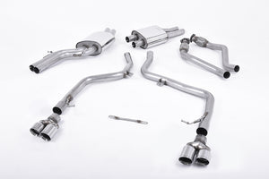Milltek Exhaust Audi S5 3.0 TFSI B8 Coupe & Cabriolet (S tronic) Cat-back Race Version (not recommended for road use). Quad Polished Tips