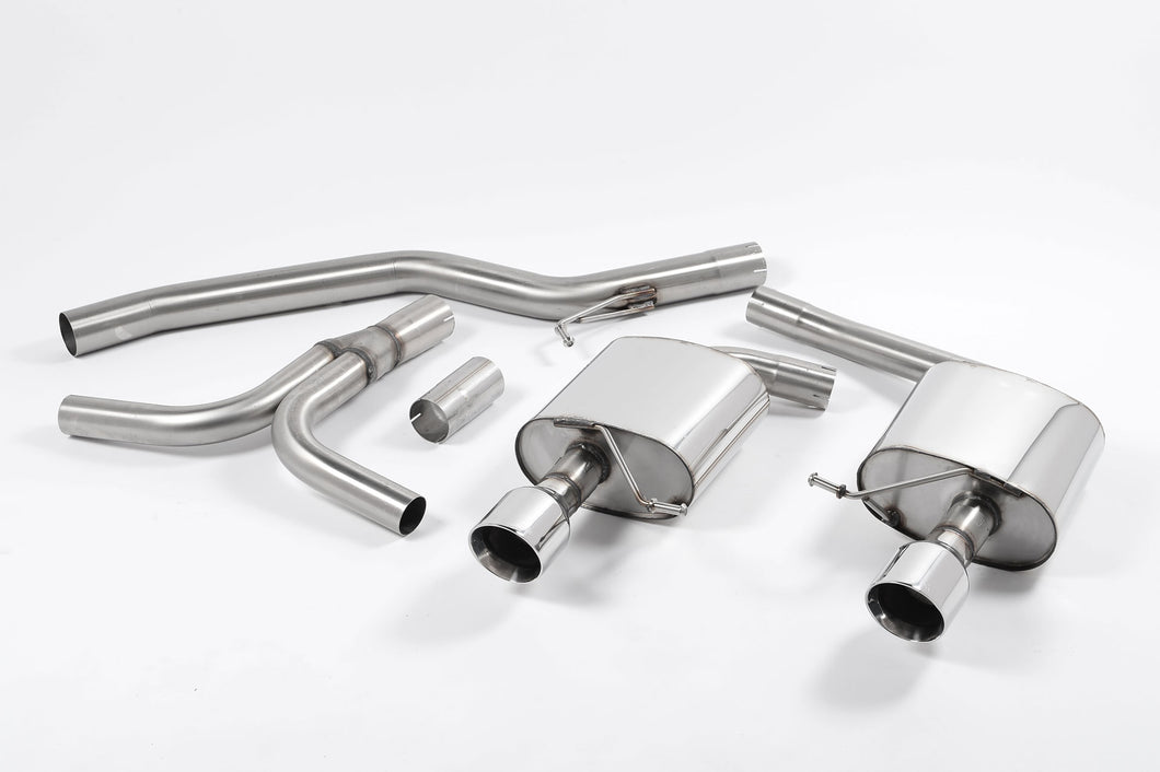 Milltek Exhaust Audi A5 Coupe 3.0 TDi (DPF) quattro Cat-back Dual-outlet. Cerakote Black Tips