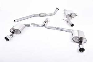 Milltek Exhaust Audi A5 Coupe S line 2.0 TFSI 2WD and quattro S tronic Cat-back Dual-outlet.