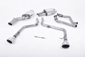 Milltek Exhaust Audi S5 3.0 TFSI B8 Coupe & Cabriolet (S tronic) Cat-back Race Version (not recommended for road use). Dual Polished Oval Tips