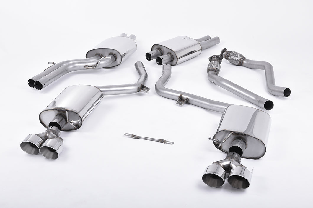 Milltek Exhaust Audi S5 3.0 Supercharged V6 B8.5 Cat-back Quad Outlet Polished Tips