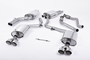 Milltek Exhaust Audi S5 3.0 TFSI B8.5 Coupe & Cabriolet Cat-back Resonated (quieter). Polished Quad-outlet